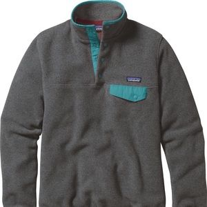 Patagonia synchilla grey/teal pullover